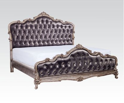 Picture of Traditional Chantelle Antique Silver French rococo Queen Bed