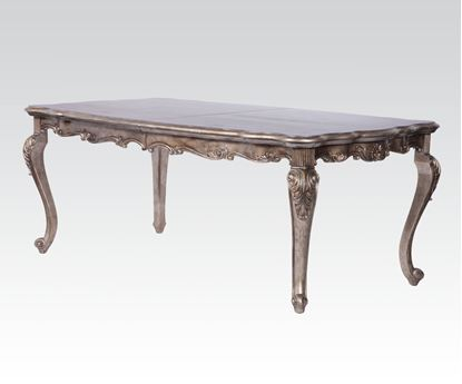 Picture of Chantelle Antique Silver French Rococo Rectangle Dining Table
