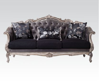 Picture of Chantelle Antique Platinum Sofa with Pillows