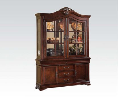 Picture of Gwyneth Double Pedestal Cherry Buffer w/ Hutch