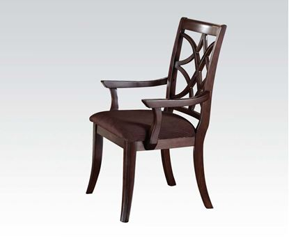 Picture of Keenan 2 Pcs. Dark Walnut Finish Arm Chair    (Set of 2)