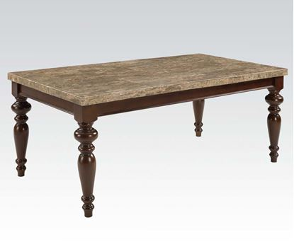 Picture of Bandele Emparedora Gray Marble Top Dining Table