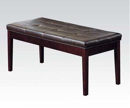 Picture of Espresso Bycast Upholstered Bench