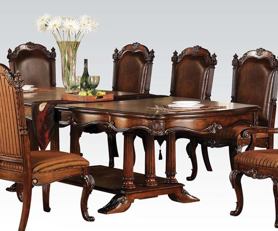 Picture of Remington Brown Cherry Finish Classic Dining Table