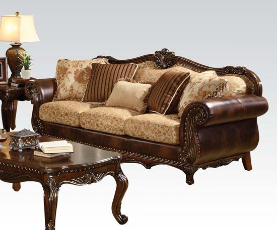 Picture of Remington Bonded Leather & Fabric Sofa