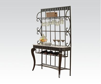 Picture of Galiana White Marble Top Baker Rack