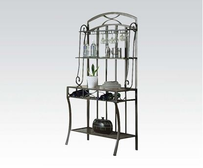 Picture of Daisy Black Faux Marble Top Baker's Rack