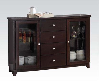 Picture of Modern Knox Espresso 4 Drawer 2 Door Server
