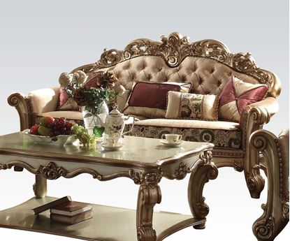 Picture of Vendome Gold Living Room Sofa W/Pillows