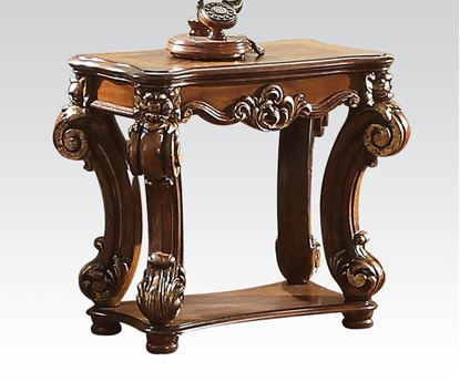 Picture of Vendome Cherry Side Table with Shelf