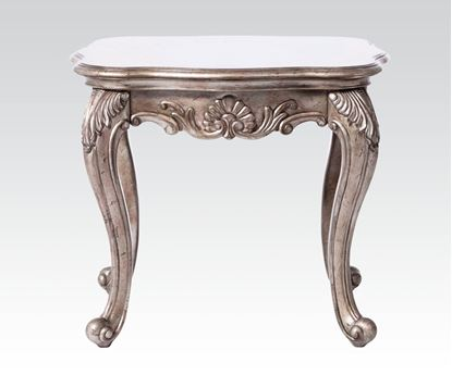 Picture of Chantelle Antique Platinum End Table w/granite top