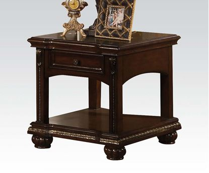 Picture of Anondale Cherry End Table with Storage Drawers