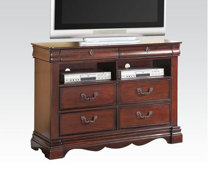 Picture of Estrella Dark Cherry Finish Media Chest