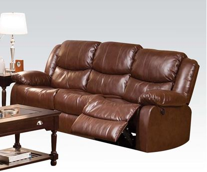 Picture of Contemporary Fullerton Power Motion Brown Sofa
