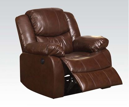 Picture of Contemporary Fullerton Power Motion Brown Chair by  50200