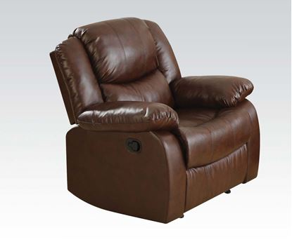 Picture of Fullerton Brown Bonded Leather Match Finish Motion Recliner Chair