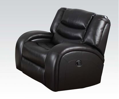 Picture of Modern Dacey Espresso Bonded Leather Motion Chair