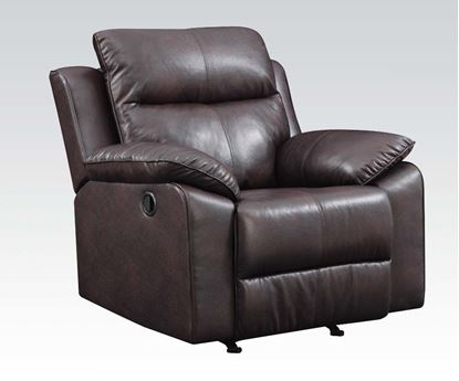Picture of Contemporary Burgundy Leathaire Recliner