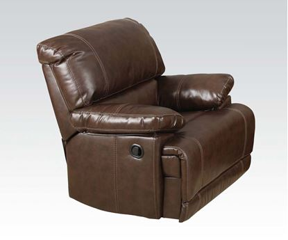 Picture of Daishiro Motion Chestnut Bonded Leather Chair