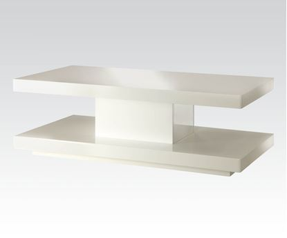 Picture of Imena White Finish Coffee Table