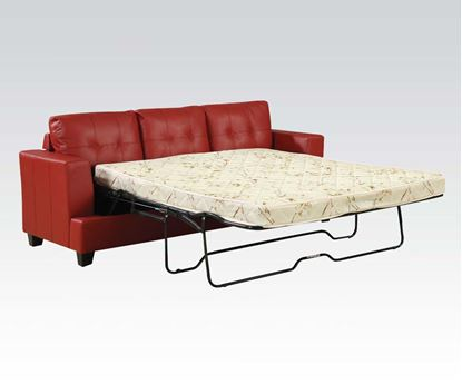 Picture of Diamond Red Bonded Leather Sofa w/Queen Sleeper Set