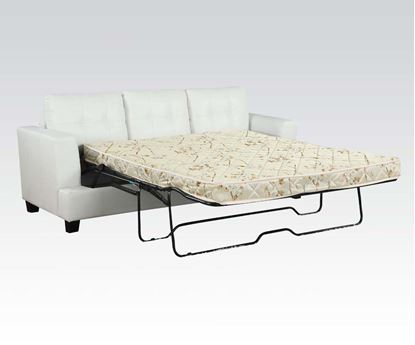 Picture of DiamondWhite Bonded Leather Sofa w/Queen Sleeper Set