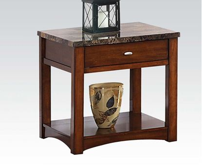 Picture of Jas Cherry Wood End Table with 1 Drawer