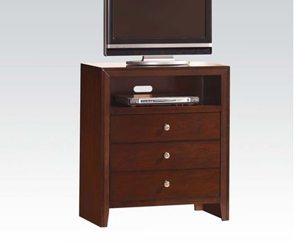 Picture of Contemporary ilana Brown Cherry Finish Media Chest