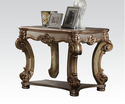Picture of Gold Patina & Bone End Table
