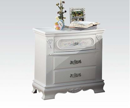 Picture of Flora White Finish Night Stand