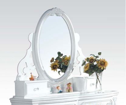 Picture of Flora White Finish Dresser Mirror