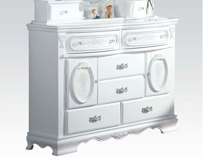 Picture of Flora White Finish Door Dresser