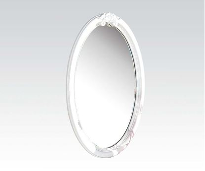 Picture of Flora White Oval Mirror  W/P2