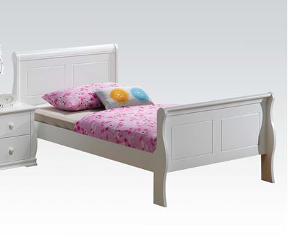 Picture of Nebo White Wave Shaped Youth Twin Bed