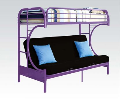 Picture of Purple T/F Funton Metal Bunkbed (180Lbs)   No P2 Concer