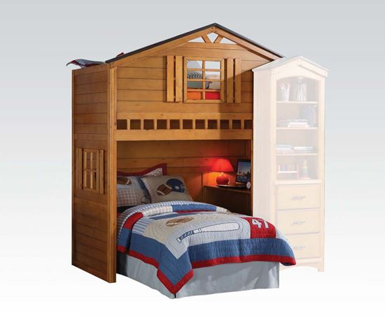 Picture of Tree House Rustic Oak Loft Bed Unit