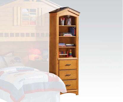 Picture of Tree House Bookcase Cabinet in Rustic Oak