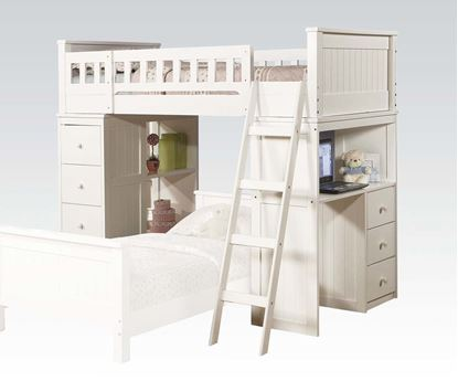 Picture of Willoughby Twin Loft Bed in White Finish