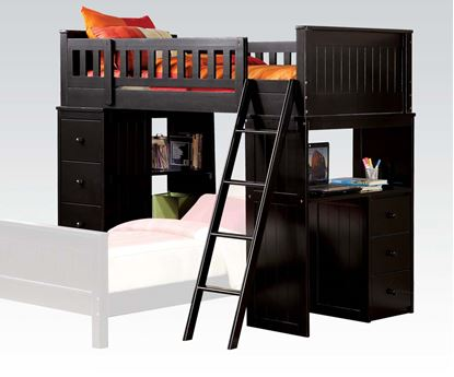 Picture of Willoughby Twin Loft Bed in Black Finish