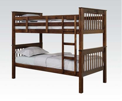 Picture of Haley Twin/Twin Bunk Bed in Walnut Finish