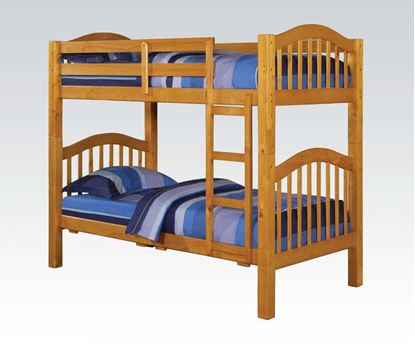 Picture of Heartland Honey Oak Twin over Twin Bunk Bed