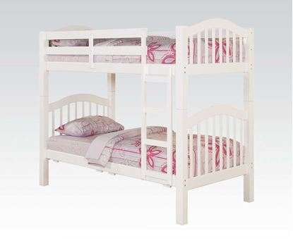 Picture of Heartland White Finish Twin over Twin Bunk Bed