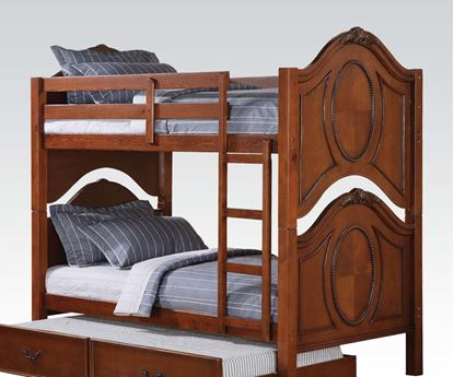 Picture of Classique Traditional Twin Twin Bunk Bed in Cherry