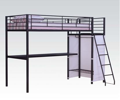 Picture of Youth Twin Loft Bed in Brown Finish