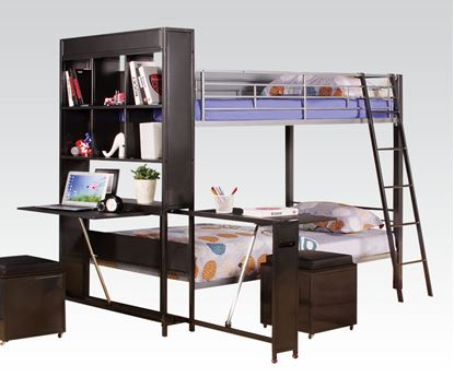 Picture of Twin Twin Functional Bunk Bed for Kids