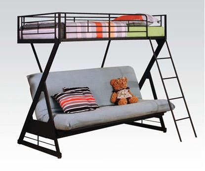 Picture of Modern Sandy Black Twin Futon Bunk Bed