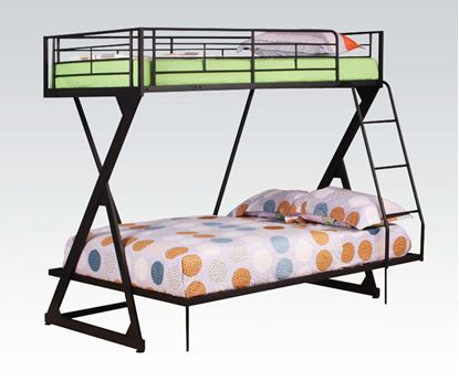 Picture of Zazie Sandy Black Finish Twin/Full Bunk Bed