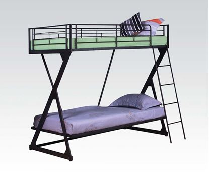 Picture of Sandy Black Twin Over Twin Bunk Bed
