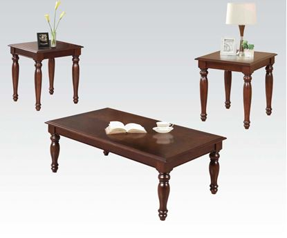 Picture of 3 PC Coffee/End Table Set in Cherry Finish