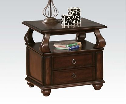 Picture of Amado Espresso Wood End Table with 2 Drawers